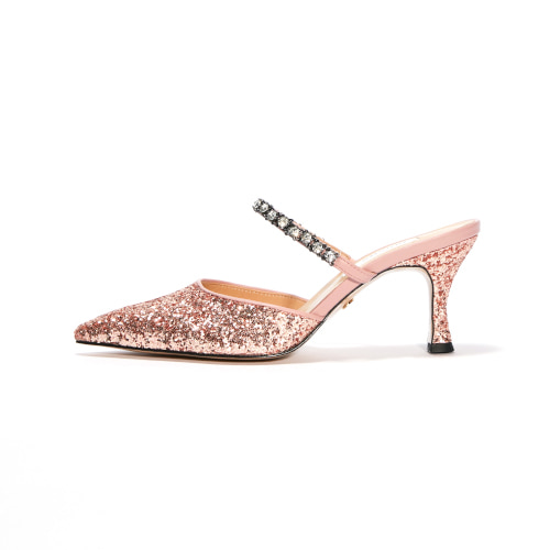 브리아나 Briana Two-way Glitter Mule_Rose Gold
