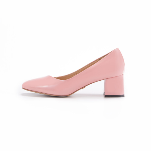 브리아나 Briana Oblique Pumps_Light Pink Patent