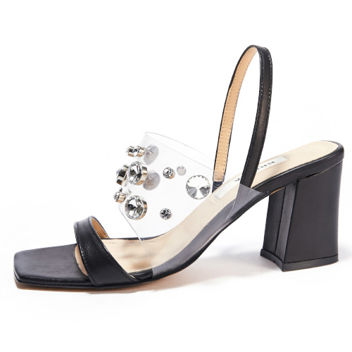 브리아나 Briana Clear Gleam Sandal_Black