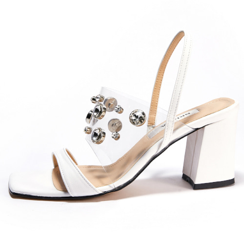 브리아나 Briana Clear Gleam Sandal_White