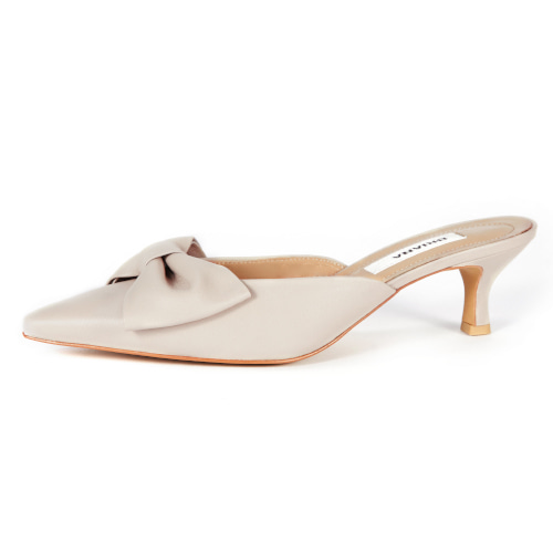 브리아나 Briana Ribbon Mule_Cream Beige