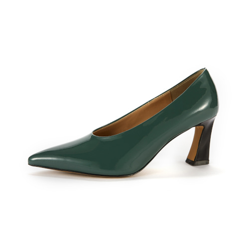 브리아나 Briana Cat pumps_Blue-Green Patent