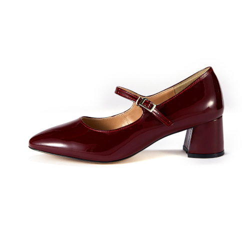 브리아나 Briana Mary Jane Pumps_Wine Patent