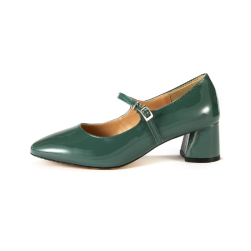 브리아나 Briana Mary Jane Pumps_Blue-Green Patent