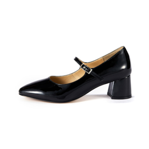 브리아나 Briana Mary Jane Pumps_Black Patent