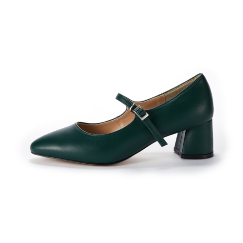브리아나 Briana Mary Jane Pumps_Deep Green