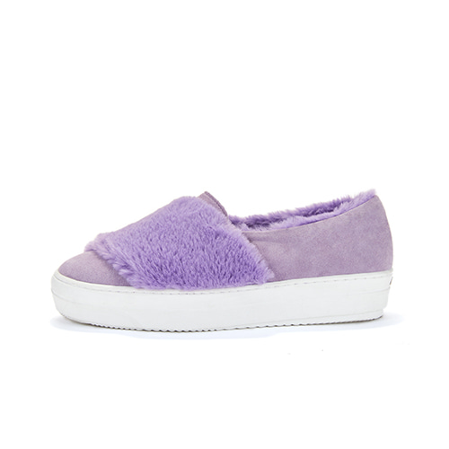 브리아나 Briana Fur Slip-on_Light Purple Suede