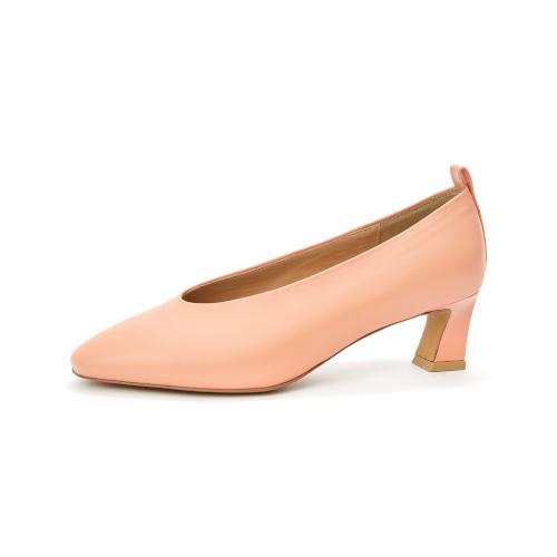 브리아나 Briana Round-toe Pumps_Peach [10% OFF]