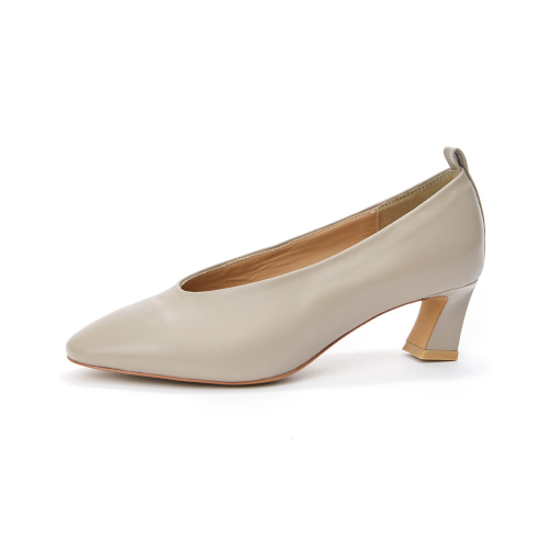 브리아나 Briana Round-toe Pumps_Mud [10% OFF]