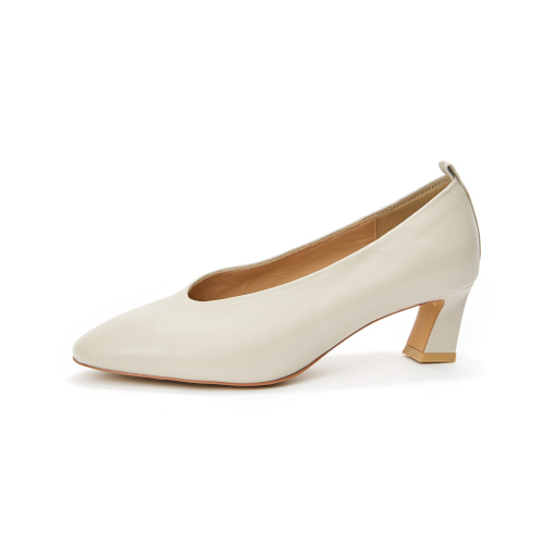 브리아나 Briana Round-toe Pumps_Cream [10% OFF]