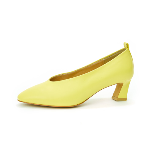 브리아나 Briana Round-toe Pumps_Lemon [10% OFF]