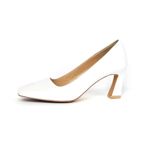 브리아나 Briana B_Block pumps_White