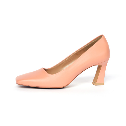 브리아나 Briana B_Block pumps_Peach