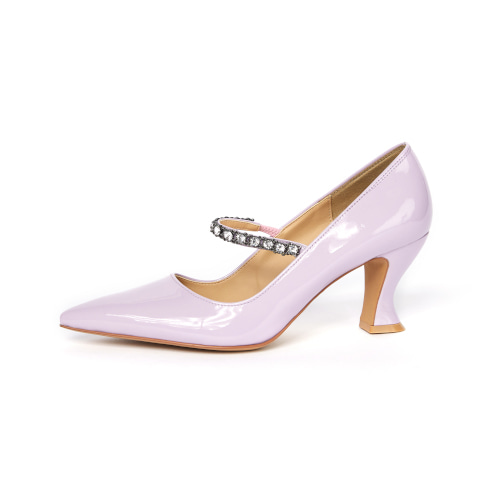 브리아나 Briana Pony Pumps_Purple Patent