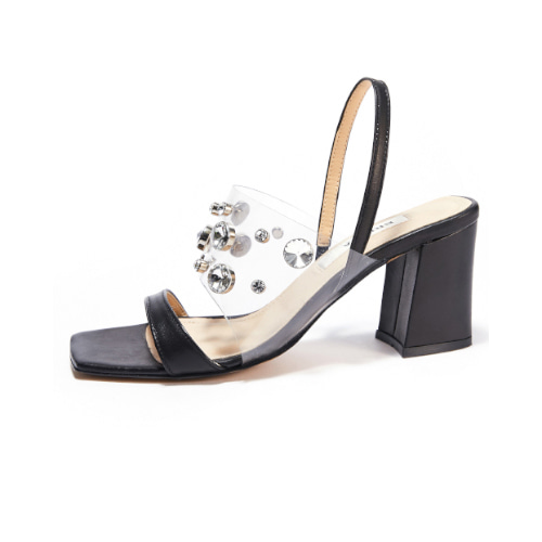 브리아나 Briana Clear Gleam Mule / Slingback_Black