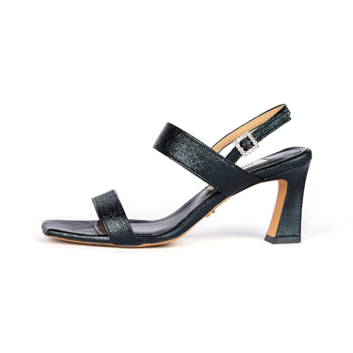브리아나 Briana Double Strap Sandal_Metal Black
