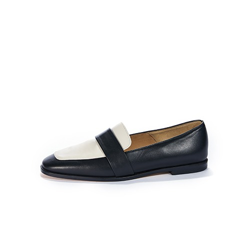 브리아나 Briana Two-Tone Combi Loafer_Cream&Black